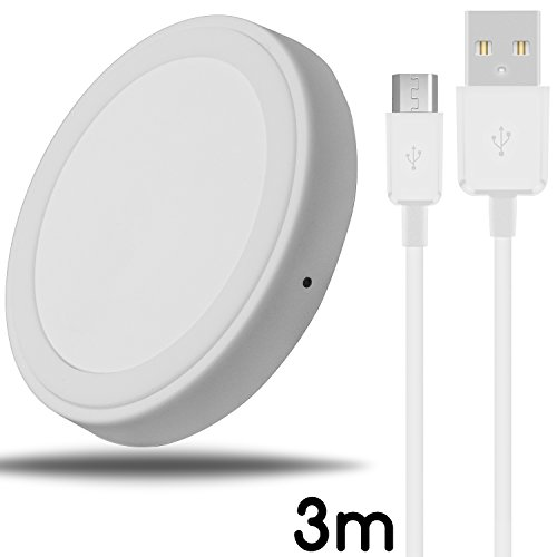 TheSmartGuard 48-Qi-laadstation // 010, iPhone X, Wit met 3 m kabel.