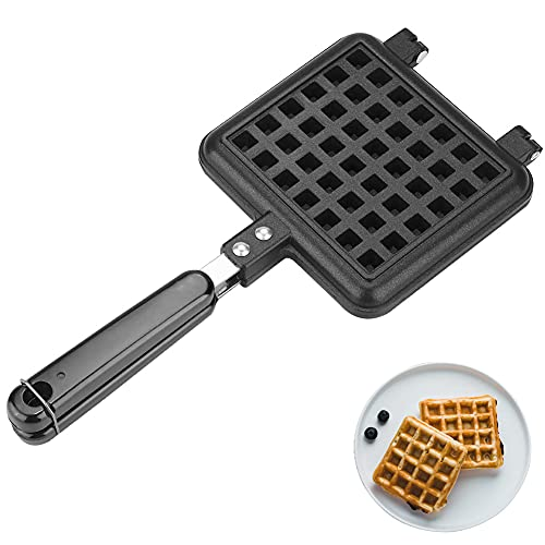 Gofrera con superficie, Plancha para Waffle para gofres antiadherente de aluminio para gofres, 31.5 x 14CM