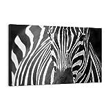 ARTTOR Cuadro sobre Lienzo - Impresión de Imagen - Animales Cebra Rayas - 120x80cm - Imagen Impresión - Cuadros Decoracion - Impresión en Lienzo - Cuadros Modernos - Lienzo Decorativo - AA120x80-2254