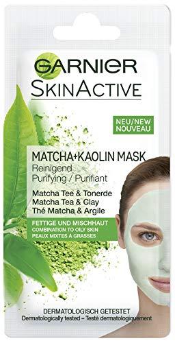 Garnier - Skin Active Rescue Mask, Mascarilla Facial Purificante con Té Matcha y Arcilla