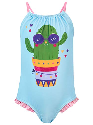 Harry Bear Costume da Bagno per Ragazze Cactus Blu 11-12 Anni