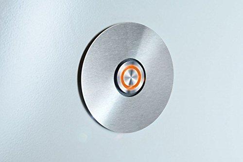 Radius Klingelschalter mit LED Leuchtring orange