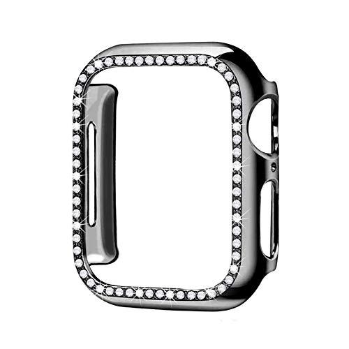 LLMXFC Estuche Protector de Parachoques de Diamante para la Cubierta de la Cubierta de la Cubierta de Apple 5 4 3 2 1 38mm 42mm Casos para iWatch 5 4 40mm 44mm Watch Accesorios