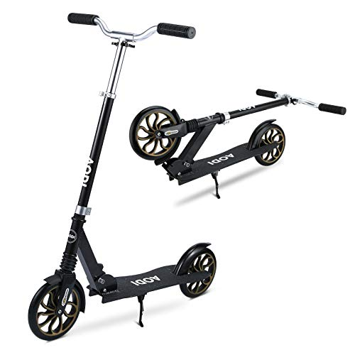 AODI Kick Scooter for Adults and Kids, Scooter with 2 Big Wheels - Adjustable Handlebars/Shock Absorption Mechanism Design Folding Scooters for Ages 6+Years (250LBS)