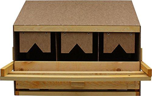Hemel Legenest, Legenester, Abrollnest, Hühnernest, Nest, Einlegematten 3 Legebuchten (Oberteil)