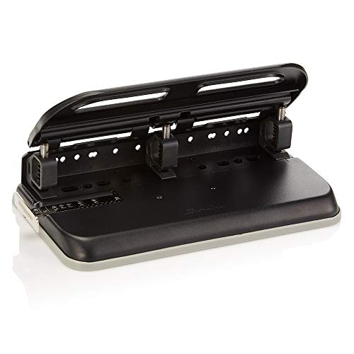 Swingline 2-7 Hole Punch, Semi-Adjustable, Heavy Duty Hole Puncher, Easy Touch, 24 Sheet Punch Capacity, Black (74150)