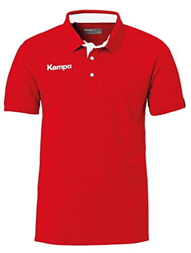 Kempa Prime Herren Poloshirt,rot(rot/Weiß),4XL