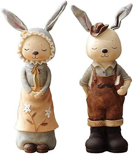 NYDZ Decoraciones de cerámica, para sala de estar, diseño de conejo, decoración de hucha, decoración del hogar, gabinete de vino (color, conejo, empuje), conejo germinante (color : conejo germinante)
