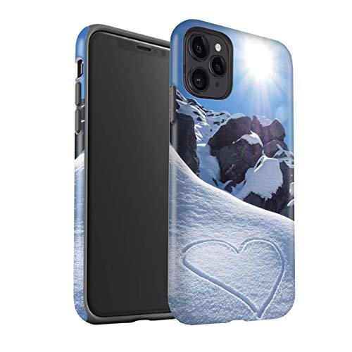 eSwish Matte Harten Stoßfest Hülle/Case für Apple iPhone 11 Pro/Liebe die Berge Muster/Skifahren/Snowboard Kollektion