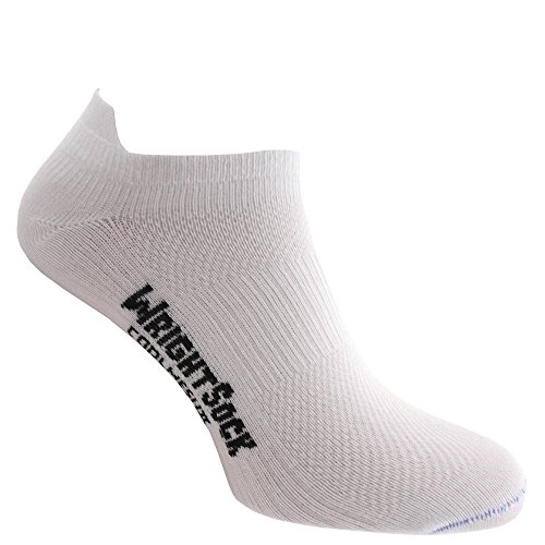 Wrightsock Coolmesh II Low Tap Sok White