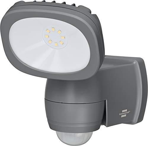 Brennenstuhl Batterie LED Strahler LUFOS / Kabelloser LED Außen-Strahler mit Batterie und Bewegungsmelder (mit 8 Marken LEDs, 440 Lumen, für außen IP44, mit zusätzlicher Funktionseinstellung)