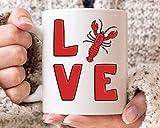 N\A Cangrejos Taza del Amor, Idea Divertida del Regalo Gras Mardi, cangrejos Partido, Fresco ebullición de los cangrejos Diseño, Marisco Taza del Amante, Mudbag Fo