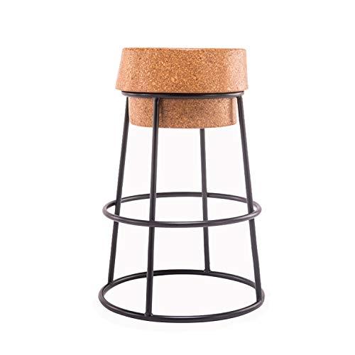 Xiao Jian barkruk - Pub-hoogte - samengesteld rond kurk zitkussen - barkruk op metalen basis - voor keuken, bistro, café, pub hoge kruk barkruk keukenstoelen