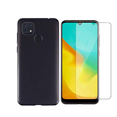 Tznzxm for Consumer Cellular ZMax 10 /ZTE Z6250 Tempered Glass Screen Protector [2-Pack],ZTE ZMax 10 Case,Flexible Soft TPU Scratch Resistant Non-Slip Back Cover Rubber Slim Phone Case for ZTE Z6250