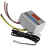 AZDelivery XH-W3001 Controlador Digital Temperatura LED, Mini Interruptor Termostato a Prueba de Agua, Pantalla Temperatura Ajustable, Sonda Temperatura NTC DC 12V 120W 10A con E-Book incluido
