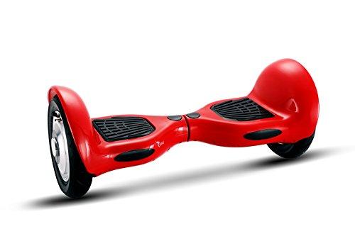 UNITED TRADE Hoverboard Elettrico Monopattino Elettrico Overboard, Balance Scooter Skateboard con LED & Bluetooth, Due Ruote 10 Pollici Rosso con Certificazione UL 2272, Confezione Regalo