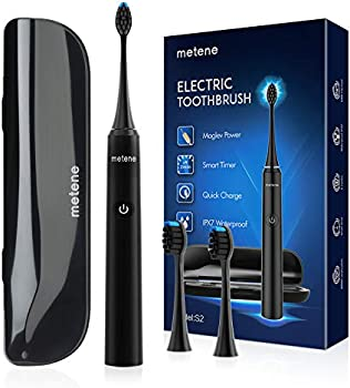 Metene Rechargeable Power Sonic Electric Toothbrush with Travel Case