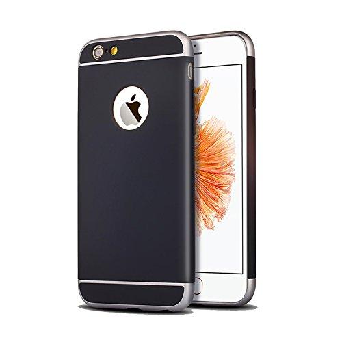 Apple iPhone 6 Custodia e iPhone 6S( 4.7 pollici) 3 in 1 Antiurta Sottilissima Dura Protettiva Custodia Cover Case per Apple iPhone 6 iPhone 6S Bumper Back custodia(nero)