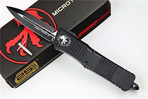 Premium Outdoor Portable Klappmesser Scharf Stahl Messer D2 Klinge Griff Aluminium Messer metall Taschenmesser Einhandmesser klein Survival Halskette schwarz Messer werkzeuge Wandern/Scheide