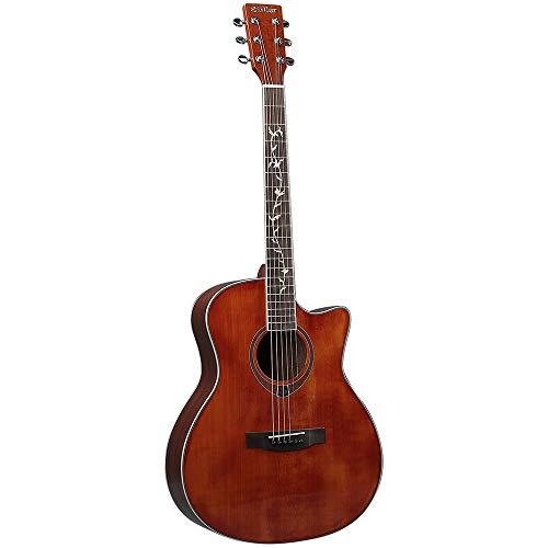 Yamyannie Guitarra Guitarra Acústica Gente del Campo 41 Pulgadas De Madera Sólida Chapa De La Guitarra Guitarras Clásicas (Color : Red, Size : 41 Inches)