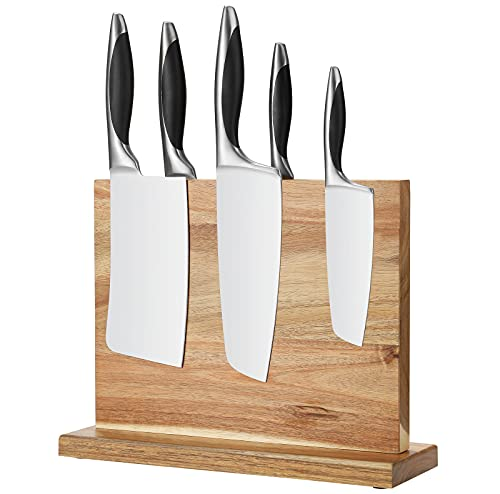 Magnetic Knife Block Rack, Double Sided Knife Holder Knives Dock Cutlery Display Stand Ideal for Home Kitchen Knives Storage Organiser