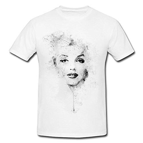 Marilyn Monroe II T-Shirt Mädchen Frauen, weiß mit Aufdruck