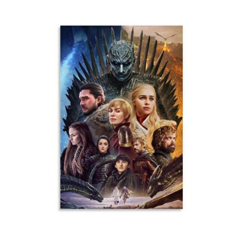 DSGFR Game of Thrones 7 Meravigliosa serie TV Poster Decorativo Tela da Parete Poster Soggiorno Camera da Letto 30 x 45 cm