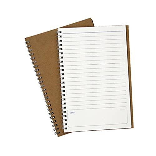 AAZZ Cuaderno Diario Cuaderno A5 Cuaderno Literario Simple Kraft Paper Diario Diario Cuaderno Es Adecuado para El Trabajo Diario (un Cuaderno) Cuadernos para Mujeres (Color : Horizontal Style)