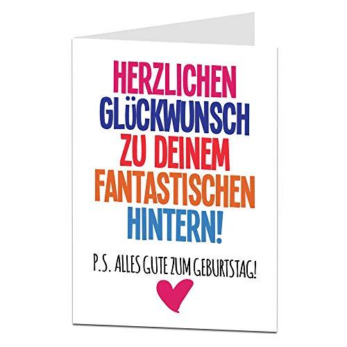 LimaLima Lustige Geburtstagskarten für Frau oder Freundin Grobes Design für Freund Ehemann Freundin Ehefrau Alternative und manchmal unhöfliche Grußkarte