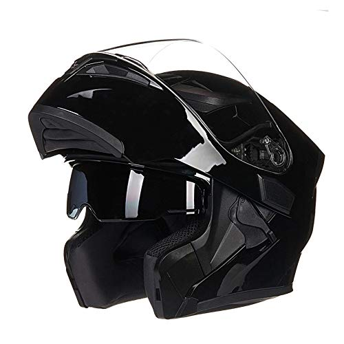 Unbedeckter Helm Flip Full Face Motorradhelm Doppelvisier Modularhelm Mit Anti-Fog-Linse DOT/ECE-Zertifizierter Offroad-Rennsport
