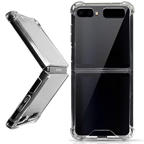 Miimall Carcasa Compatible con Samsung Galaxy Z Flip/Z Flip 5G, [Anticaída] [Anti-arañazo] [Funda Protectora de La Cámara] Transparente TPU Case para Samsung Galaxy Z Flip/Z Flip 5G