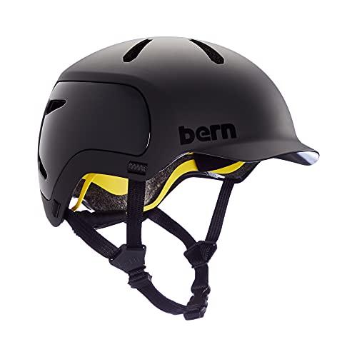 Bern Unisex WATTS 2.0 Fahrrad Helm, Matte Black, L