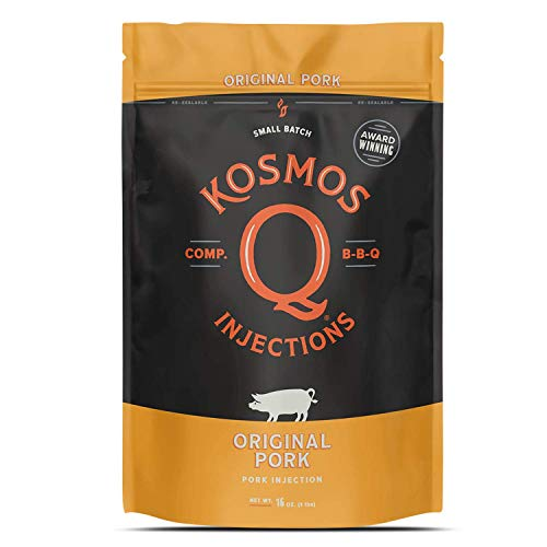 Kosmos Q Original Barbecue Pork Injection | Seasoning & Marinade | Just Add Apple Juice, Peach Nectar or Water