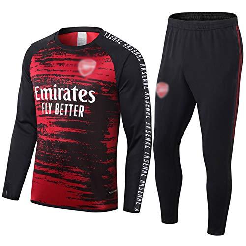 2021 Arsēńàl Arsenal Entrenamiento De Fútbol Traje - Hombres Rojo Y Negro De Cuello Redondo De Manga Larga Chándal para El Otoño/Invierno De La Capa De Desgaste + S