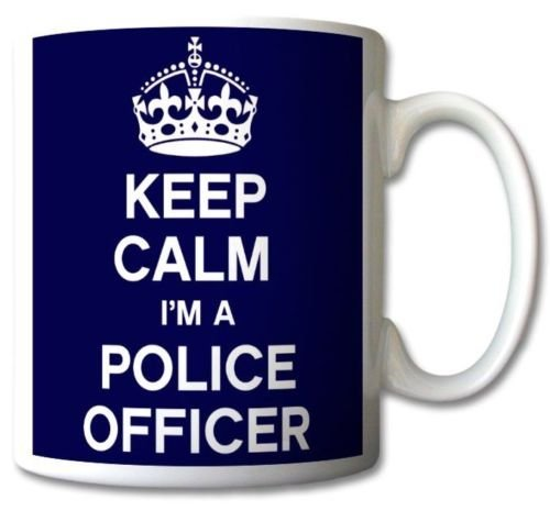Keep Calm I'm A Police Officer Blue Mug Cup Gift Retro