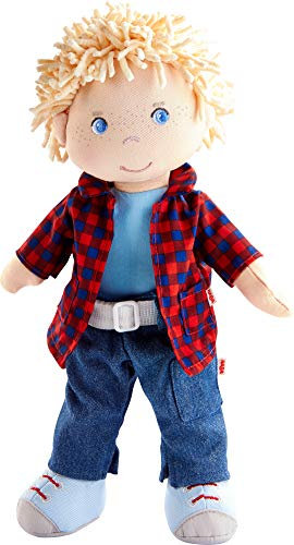 HABA Nick 12' Soft Boy Doll with Blonde Hair, Blue Eyes and Embroidered Face for Ages 18 Months and Up