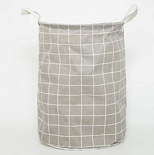 KANJJ-YU 1 UNID Cesta de lavadero Plegable Cesta de Picnic Cajas de Almacenamiento de Juguetes Cajas de Gran Capacidad Ropa Sucia Organizador Cesta Picnic (Color : Gray)