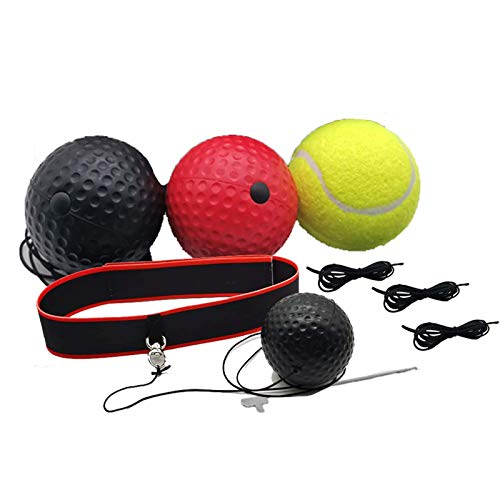 Remebe Boxing Reflex Ball, 3 Niveles Activpulse Reflex Ball con Diadema Ajustable,...