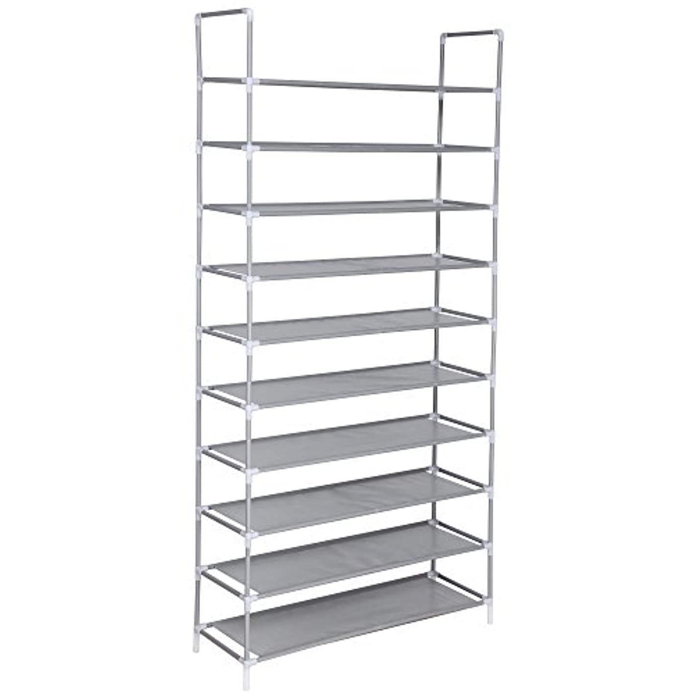 Yiilove 10 Tier Shoes Rack Stand Shelf Shoes Organizer Storage 32 Pairs Shoes, US Stock (White-10 Tier)