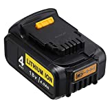 <span class='highlight'>18V</span> DeWalt Battery,<span class='highlight'>Power</span>extra 4.0Ah <span class='highlight'>18V</span> Replacement Battery Max 20V for DCB184 DCB180 DCB181 DCB182 DCB200 DCB201 DeWalt Battery