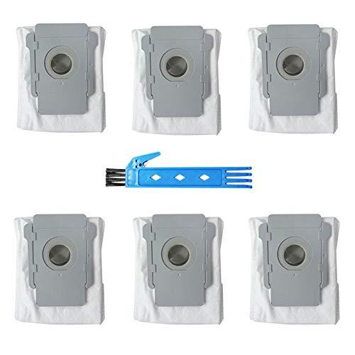 6Stück Roomba Ersatzteile Zubehör Ersatz Tool Kit für iRobot Roomba i7 i7+/i7Plus E5E6E7 Staubsaugerbeutel Roomba Staubbeutel Ersatzkit Ersatzteil