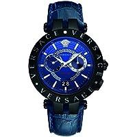 Versace V-Race Chronograph Quartz Blue Dial Men's Watch (VEBV00419)