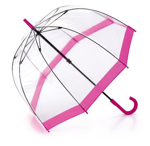 Fulton Stockschirm, Pink Trim (transparent) - L041 Pink Trim