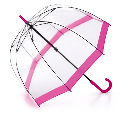 Fulton Birdcage - Paraguas Transparente Rosa
