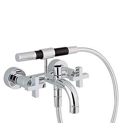 Rubinetto miscelatore per vasca da bagno / doccia a parete CISAL LINEAVIVA con supporto a parete doccetta