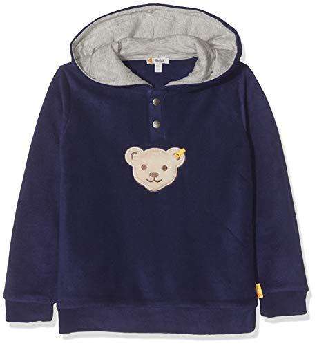Steiff Jungen Sweatshirt , Blau (PATRIOT BLUE 6033) , 98 (Herstellergröße:98)