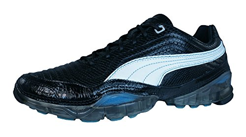 PUMA Cell Meio L Womens Leather Running Sneakers/Shoes-Black-7.5