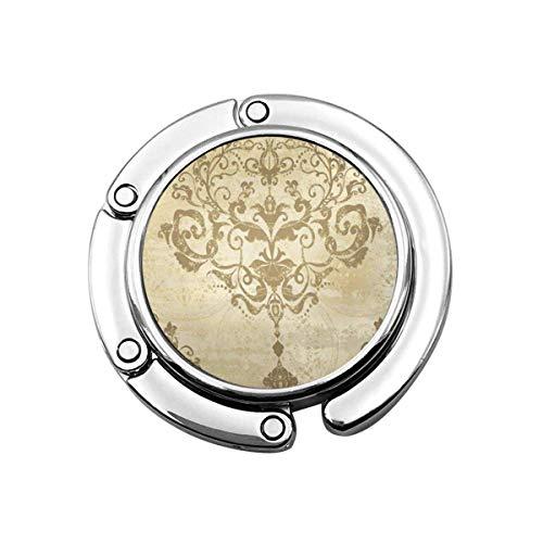 Geldbörse Kleiderbügel Geldbörse Haken Bright Silver Modern Damast Blumenmuster Vintage Rokoko Royal Antique Gold Barock Alt