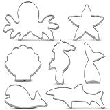 KENIAO Ozean Kreatur Meerjungfrau Ausstechformen Set Ausstecher- 7 PCS -