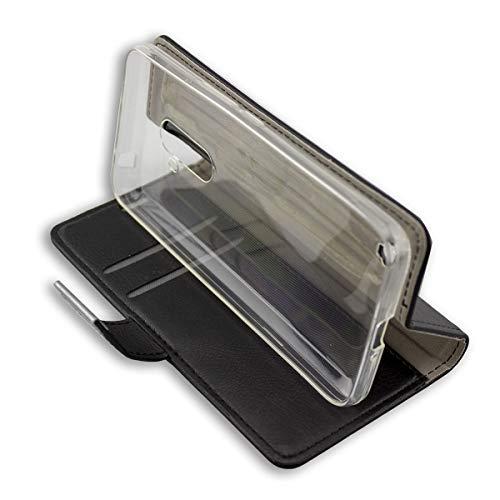 caseroxx custodia per HOMTOM S99, Bookstyle-Case Custodia protettiva book cover per smartphone in colore nero